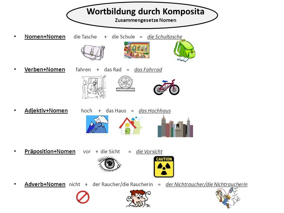 Wortbildung durch Komposita Zusammengesetze Nomen