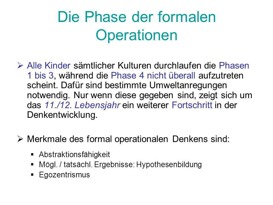 Die Phase der formalen Operationen