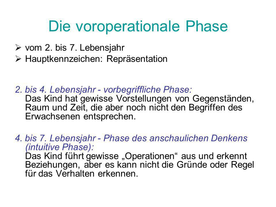 Die voroperationale Phase
