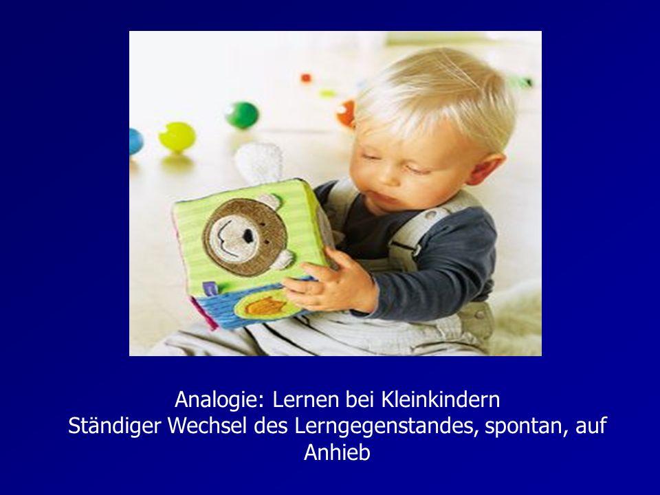 Analogie: Lernen bei Kleinkindern