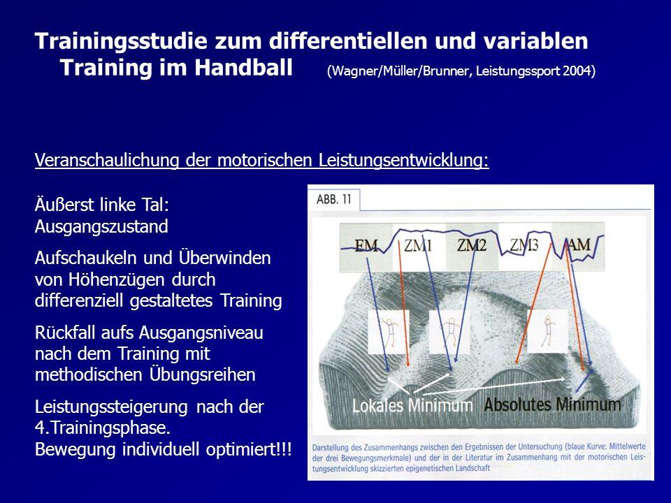 Trainingsstudie zum differentiellen und variablen Training im Handball (Wagner/Müller/Brunner, Leistungssport 2004)