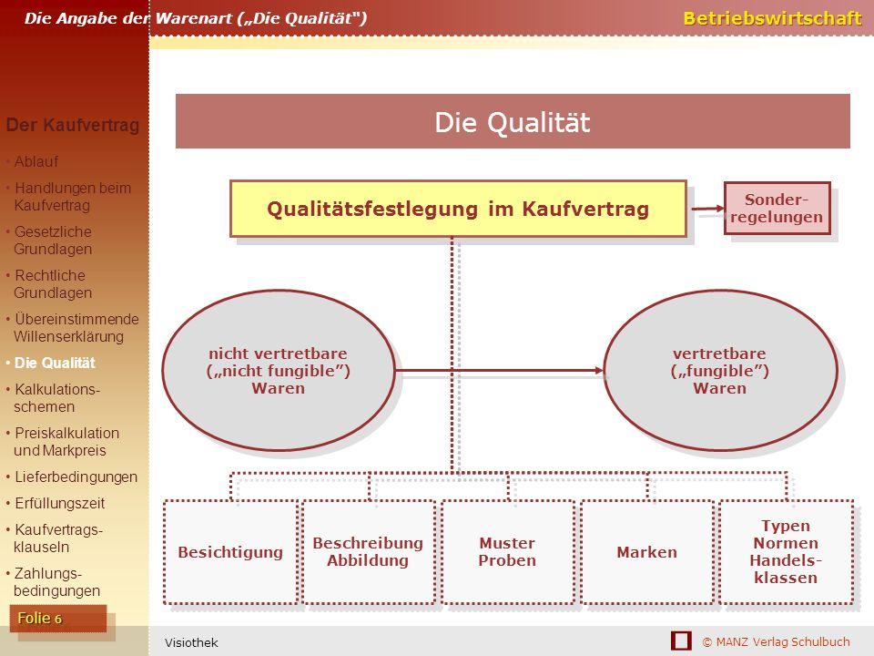 Qualitätsfestlegung im Kaufvertrag