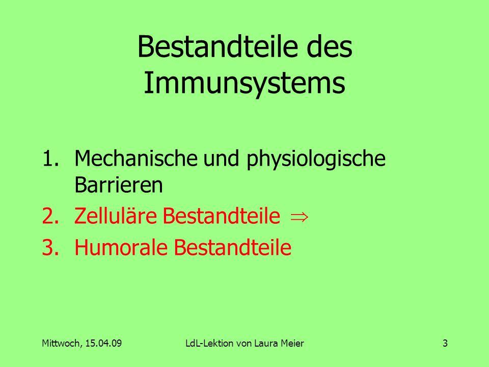 Bestandteile des Immunsystems