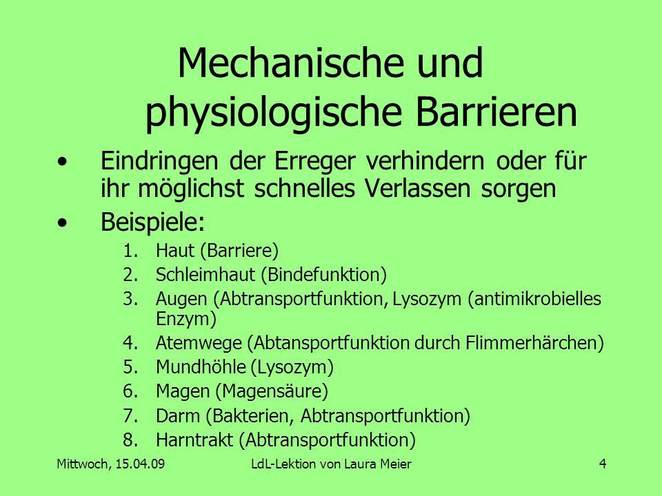 Mechanische und physiologische Barrieren