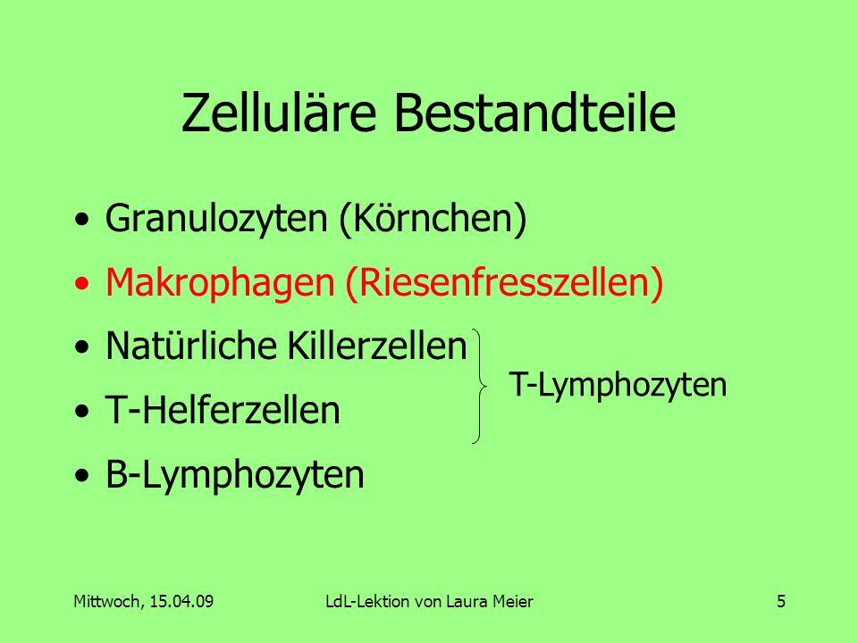 Zelluläre Bestandteile