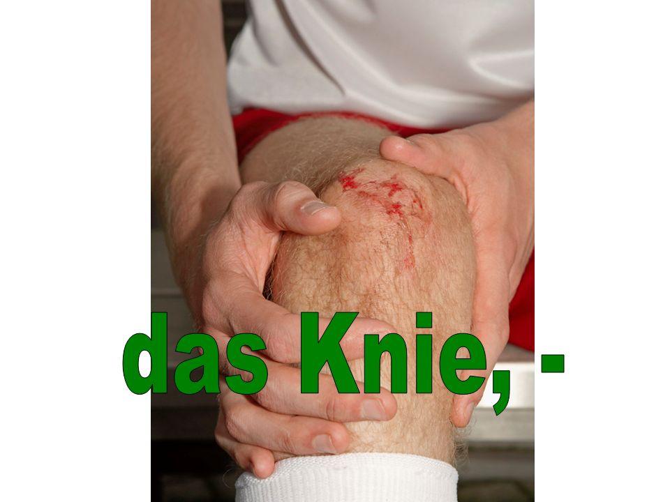 das Knie, -