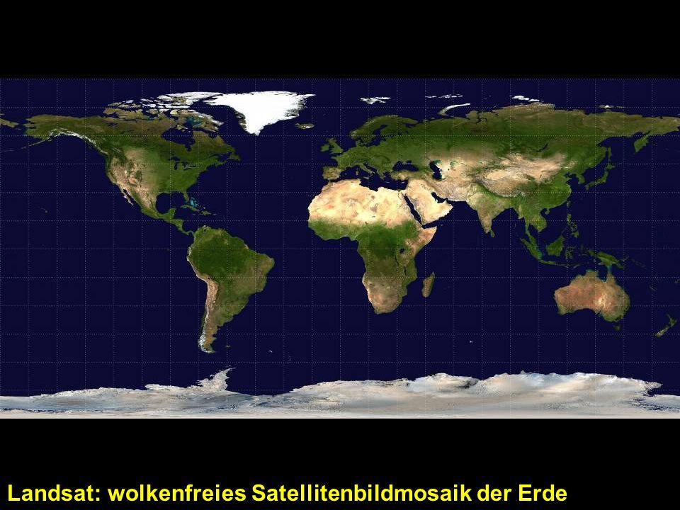 Landsat: wolkenfreies Satellitenbildmosaik der Erde