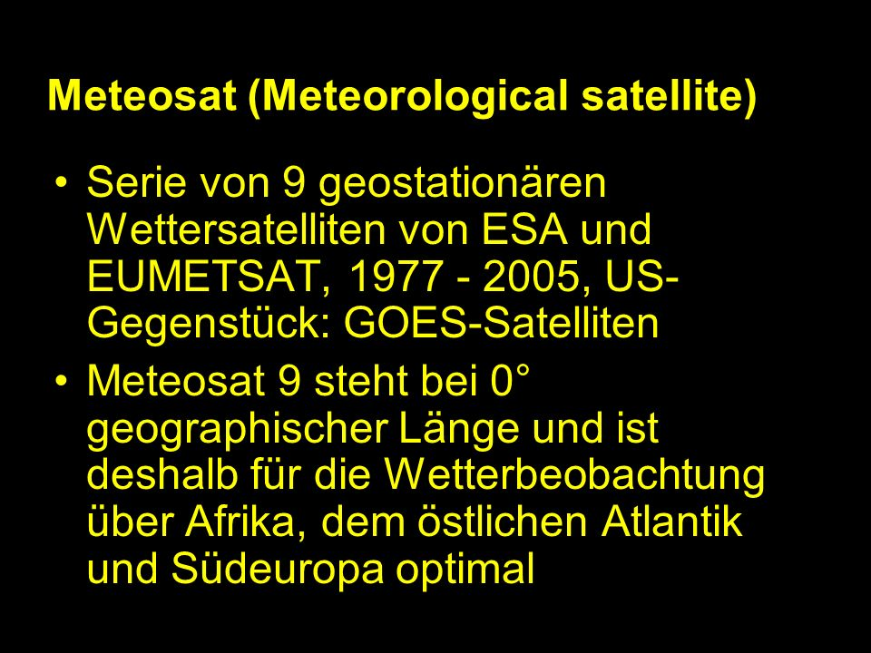 Meteosat (Meteorological satellite)
