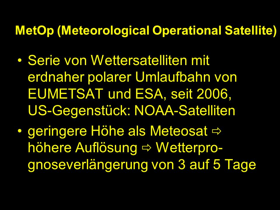 MetOp (Meteorological Operational Satellite)