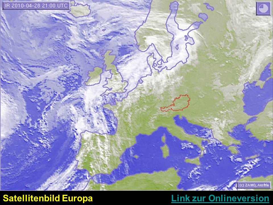 Satellitenbild Europa Link zur Onlineversion
