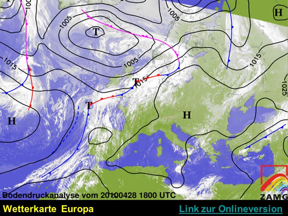 Wetterkarte Europa Link zur Onlineversion