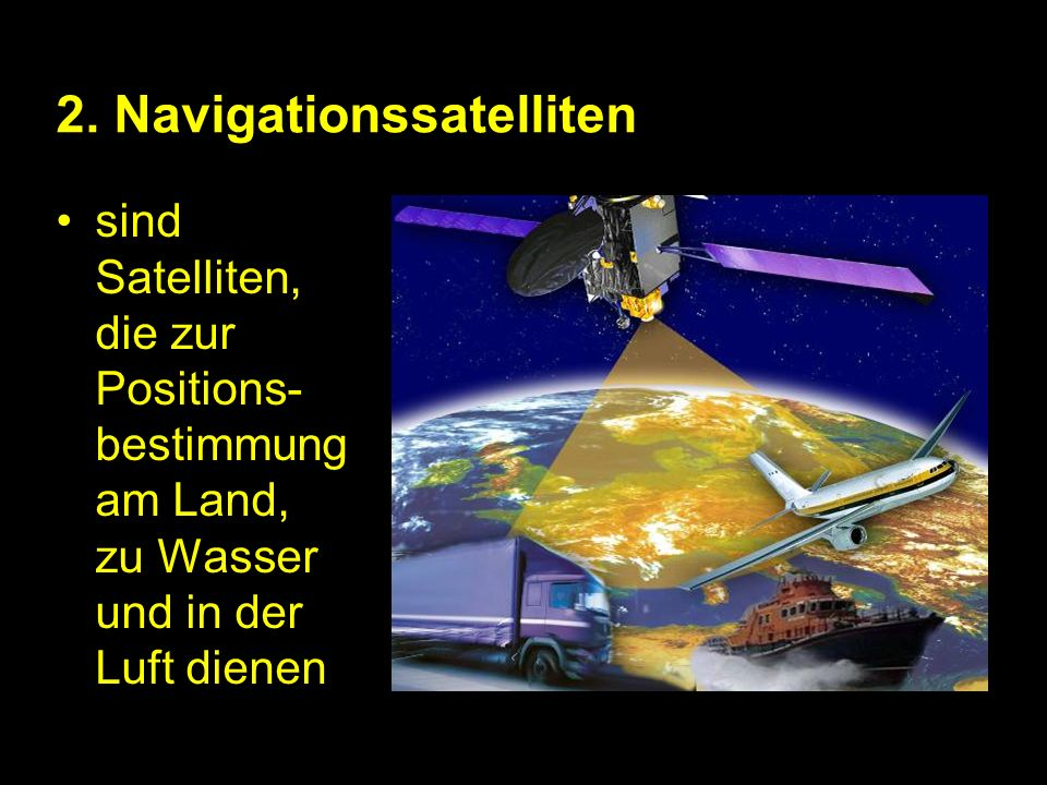 2. Navigationssatelliten
