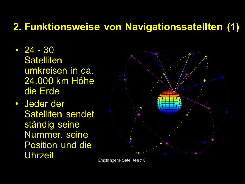 2. Funktionsweise von Navigationssatellten (1)