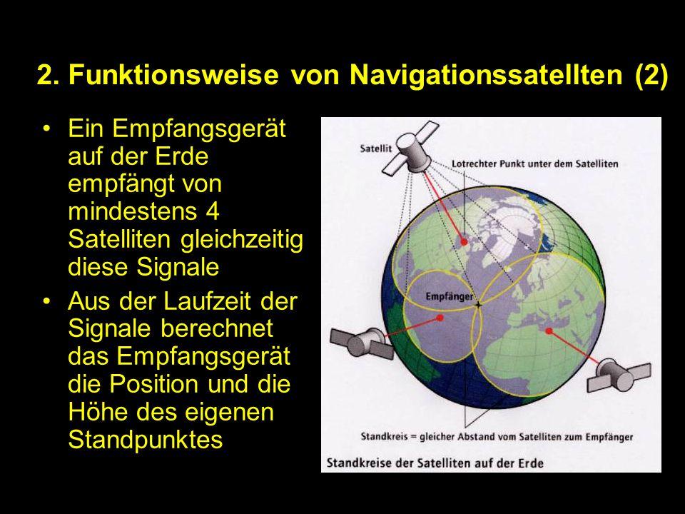 2. Funktionsweise von Navigationssatellten (2)