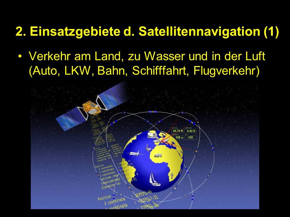 2. Einsatzgebiete d. Satellitennavigation (1)