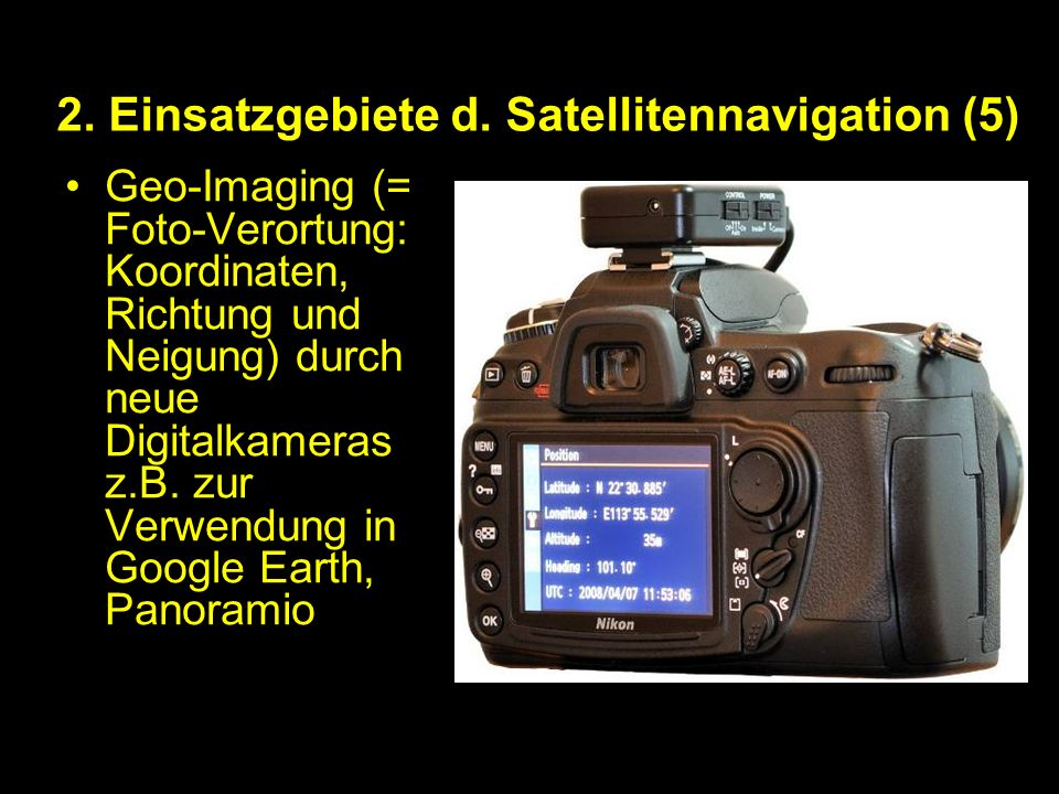 2. Einsatzgebiete d. Satellitennavigation (5)