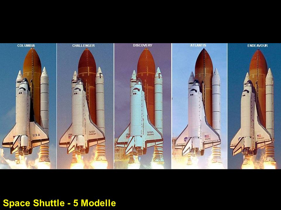 Space Shuttle - 5 Modelle