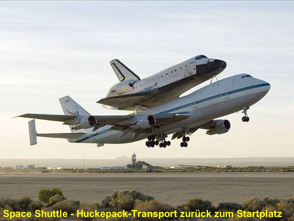 Space Shuttle - Huckepack-Transport zurück zum Startplatz