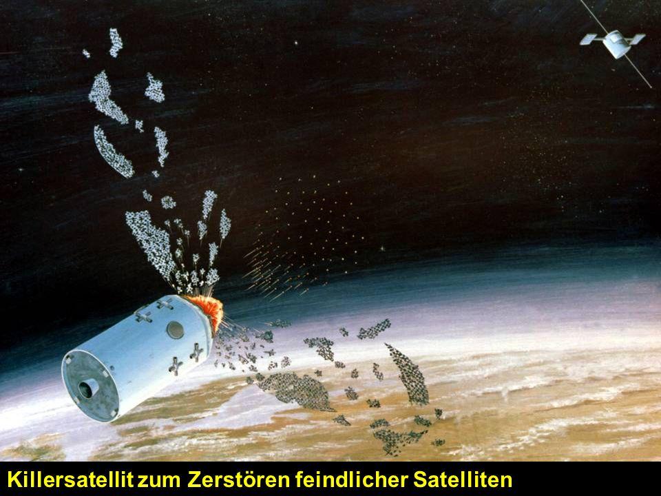Killersatellit zum Zerstören feindlicher Satelliten