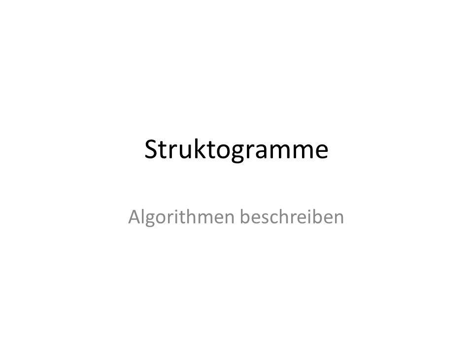 Algorithmen beschreiben