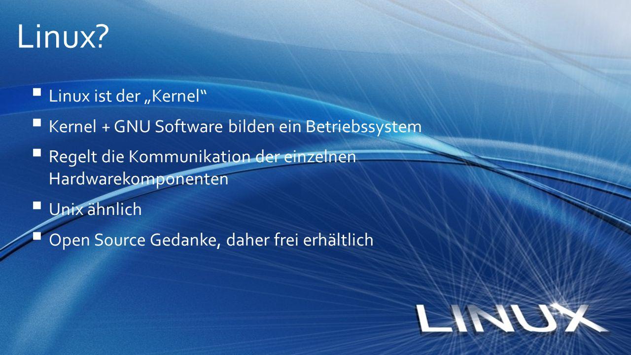 """Linux Linux ist der """"Kernel"""