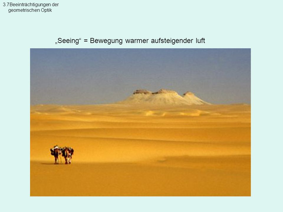 """""""Seeing = Bewegung warmer aufsteigender luft"""
