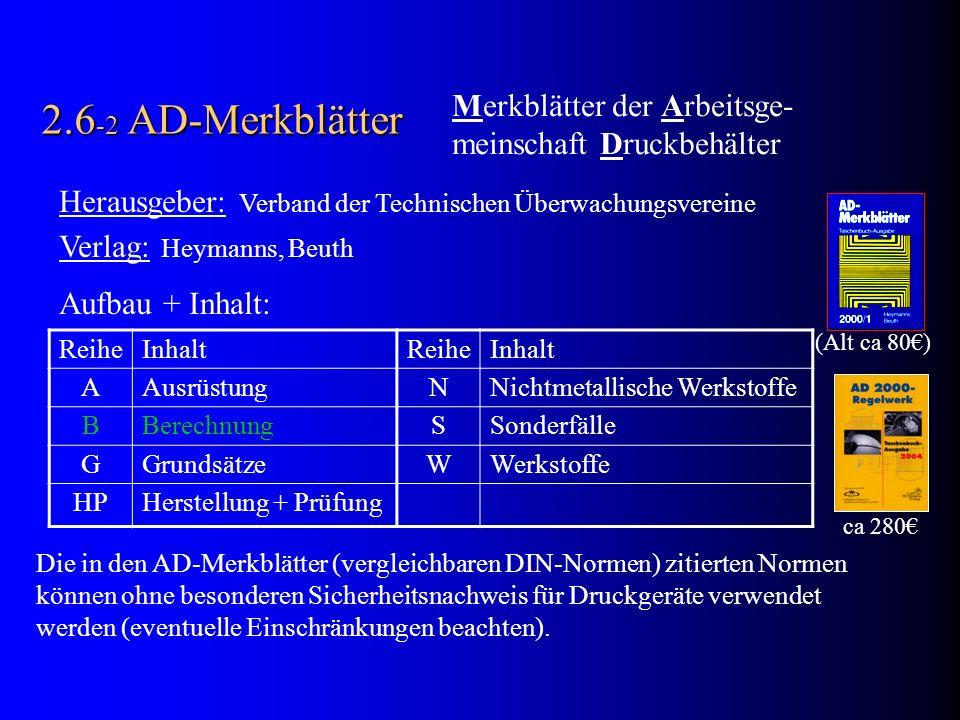 2.6-2 AD-Merkblätter Merkblätter der Arbeitsge-