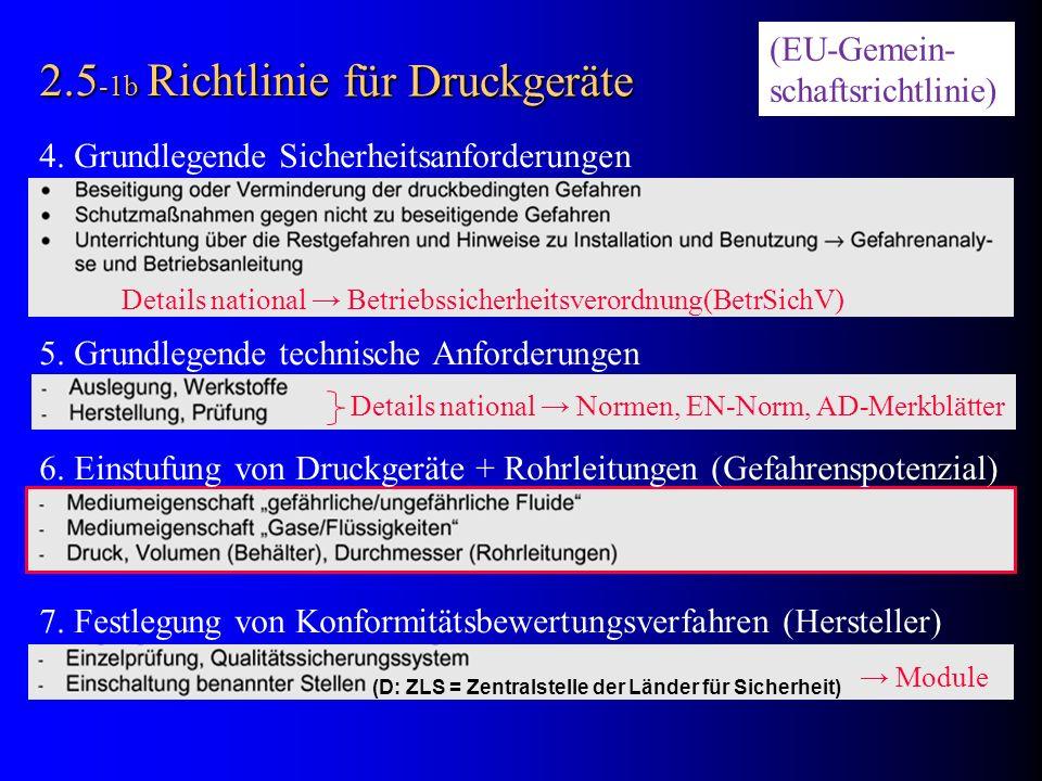 2.5-1b Richtlinie für Druckgeräte (EU-Gemein- schaftsrichtlinie)