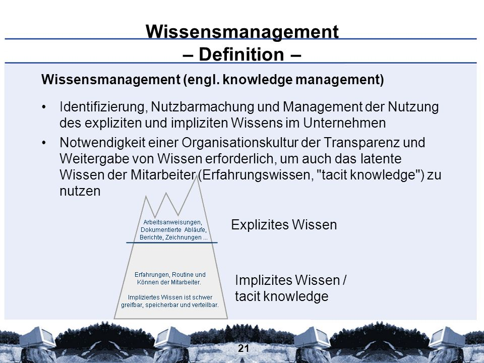 Wissensmanagement – Definition –