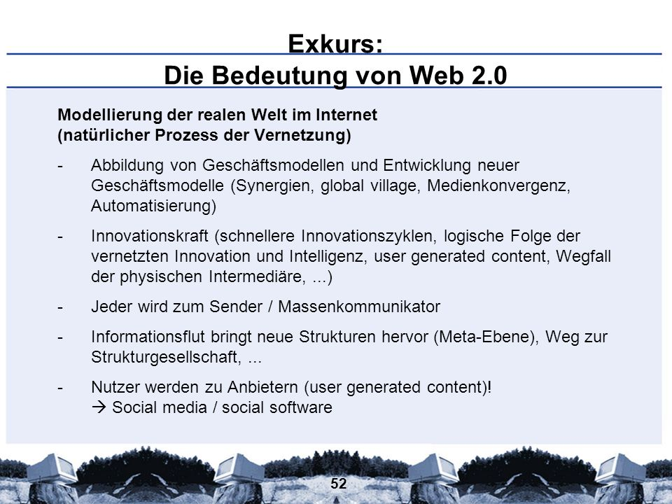 Exkurs: Die Bedeutung von Web 2.0