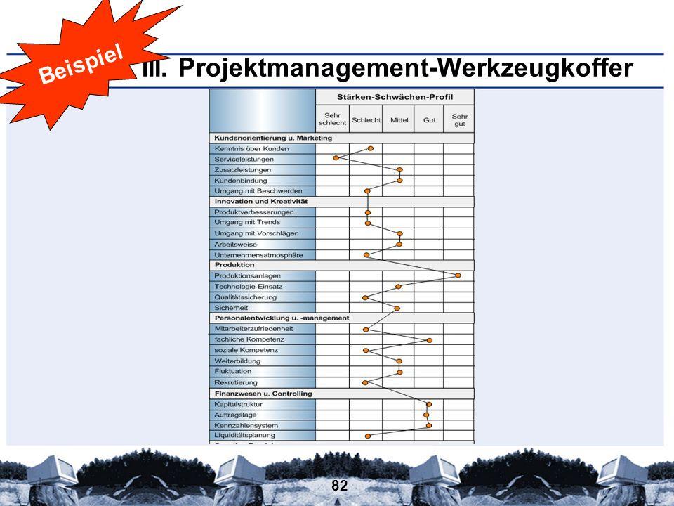 III. Projektmanagement-Werkzeugkoffer