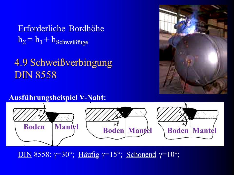 4.9 Schweißverbingung DIN 8558