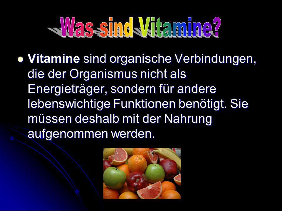 Was sind Vitamine