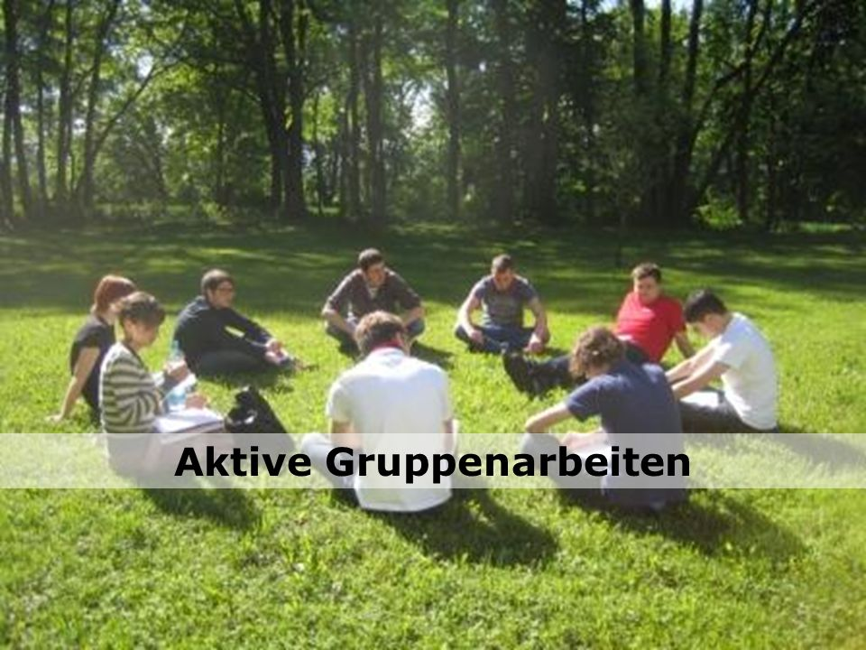 Aktive Gruppenarbeiten