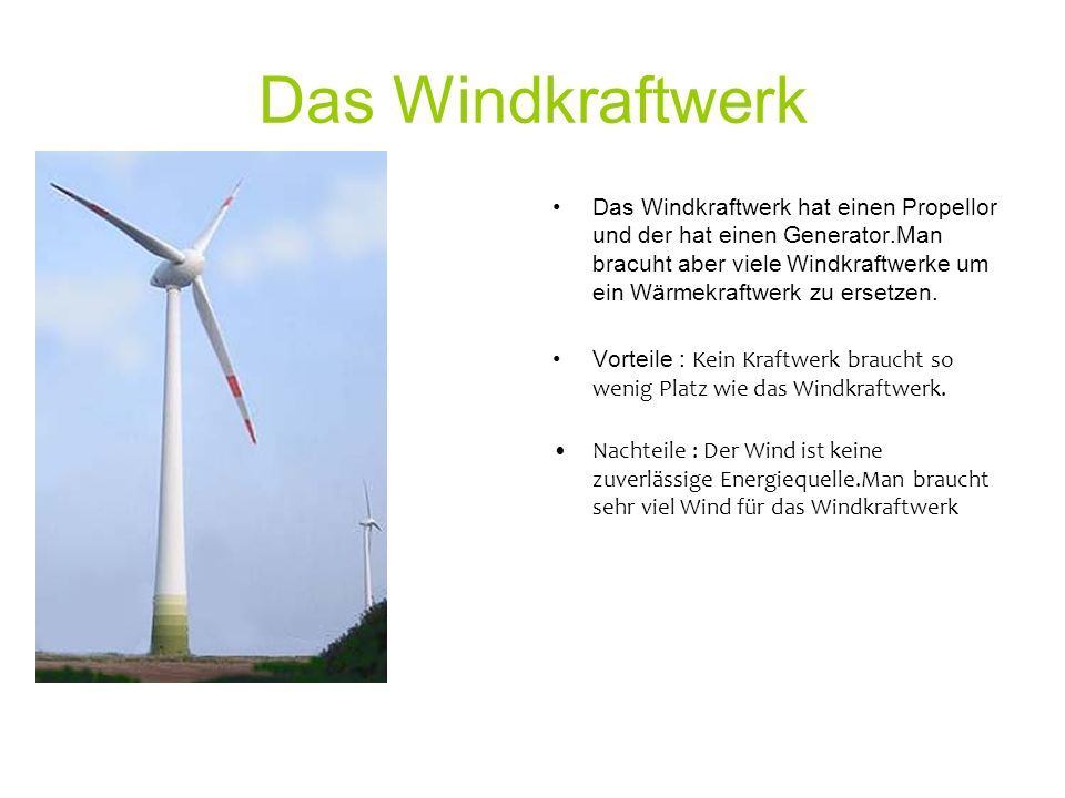 Das Windkraftwerk