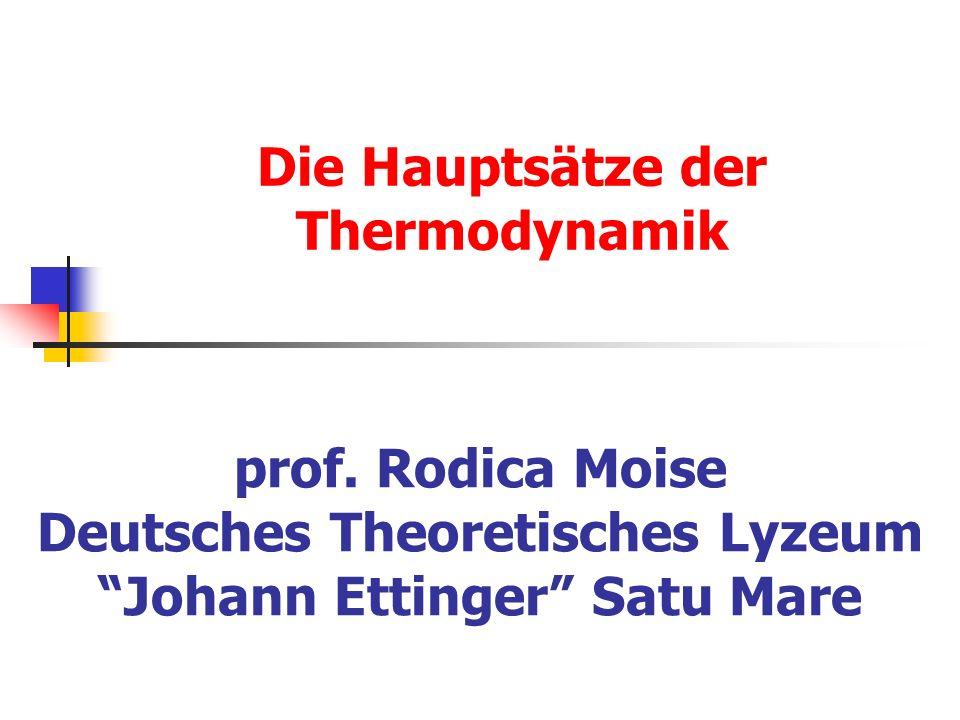Die Hauptsätze der Thermodynamik