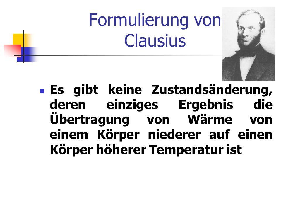 Formulierung von Clausius