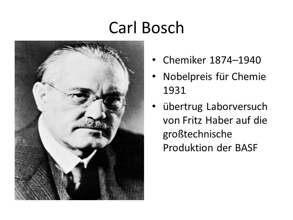 Carl Bosch Chemiker 1874–1940 Nobelpreis für Chemie 1931