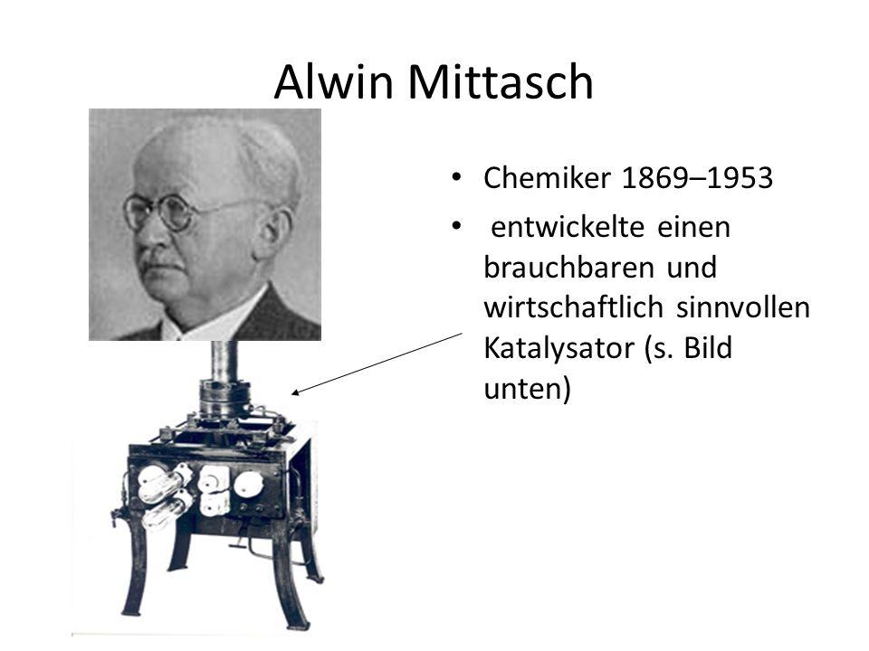 Alwin Mittasch Chemiker 1869–1953