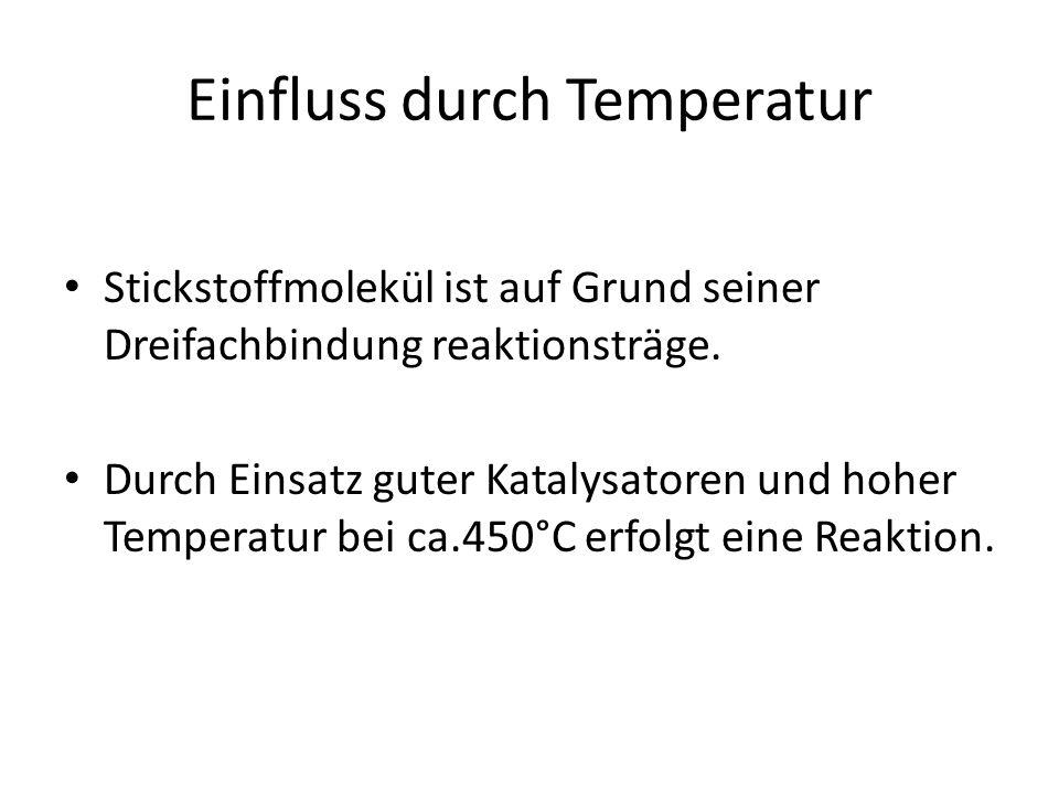 Einfluss durch Temperatur
