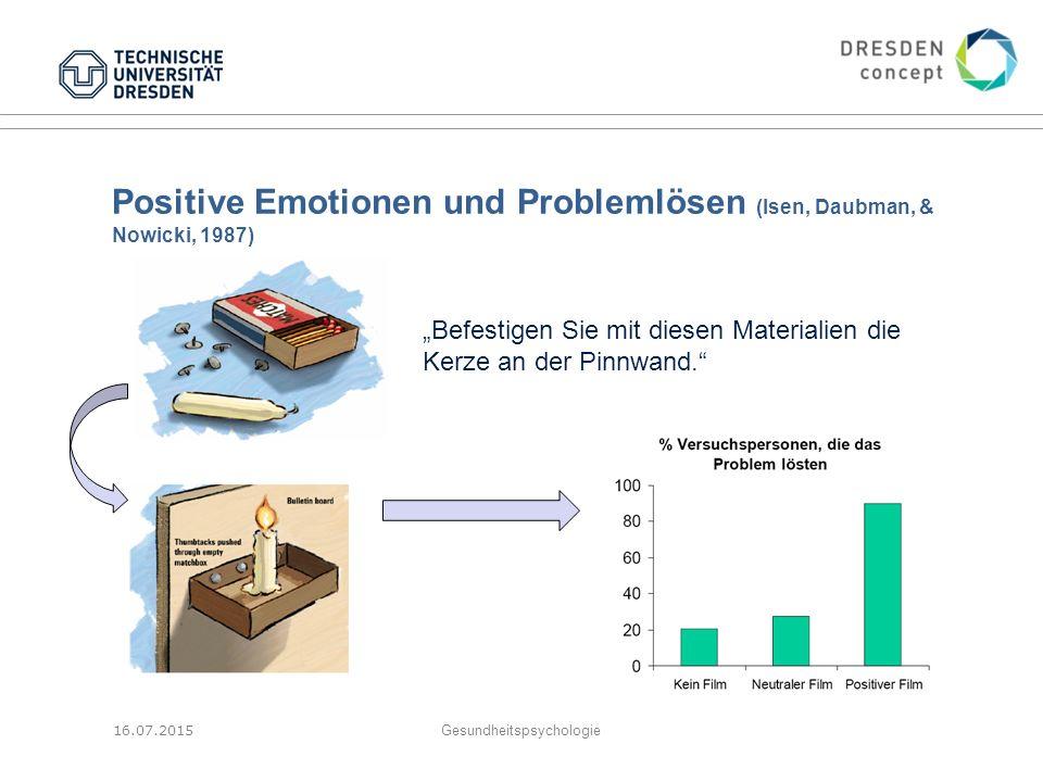 Positive Emotionen und Problemlösen (Isen, Daubman, & Nowicki, 1987)