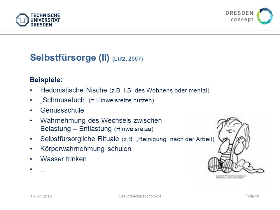 Selbstfürsorge (II) (Lutz, 2007)