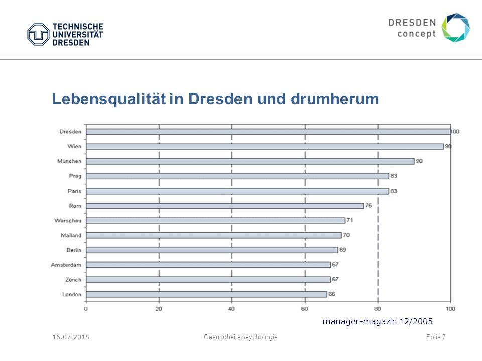 Lebensqualität in Dresden und drumherum