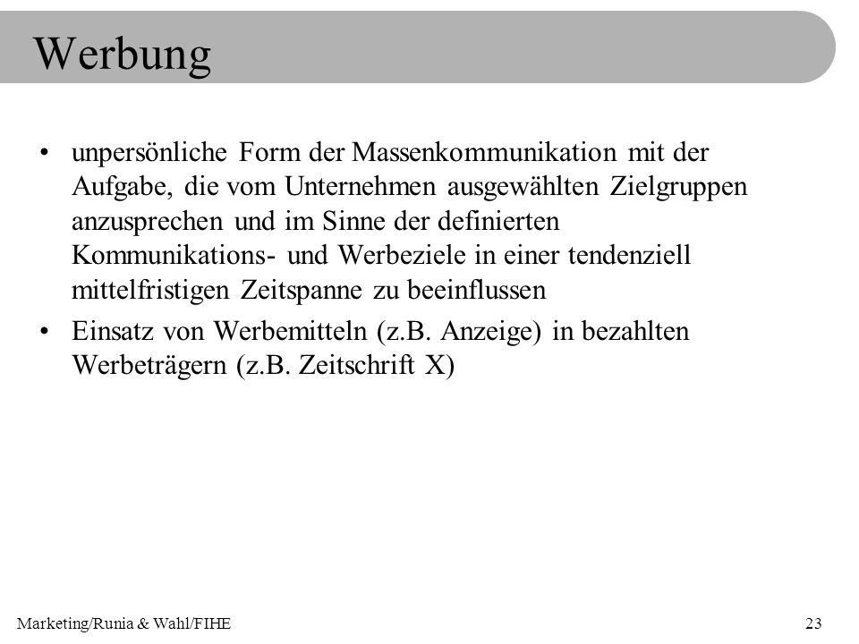 Marketing/Runia & Wahl/FIHE