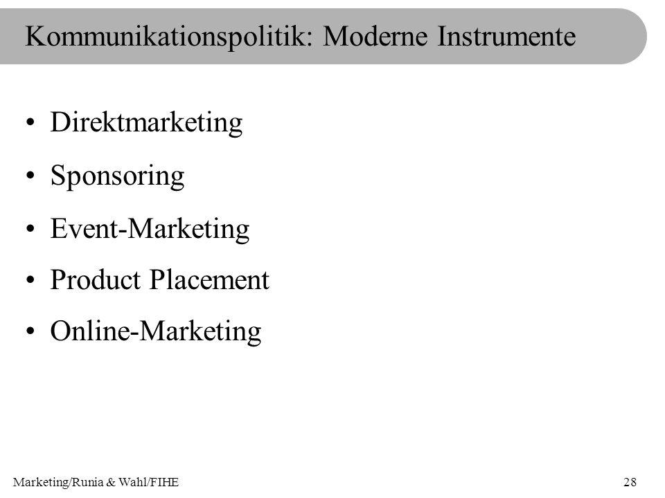 Kommunikationspolitik: Moderne Instrumente