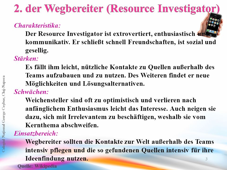 2. der Wegbereiter (Resource Investigator)