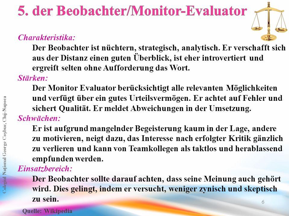 5. der Beobachter/Monitor-Evaluator
