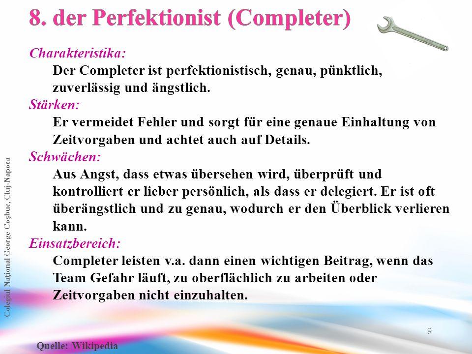 8. der Perfektionist (Completer)