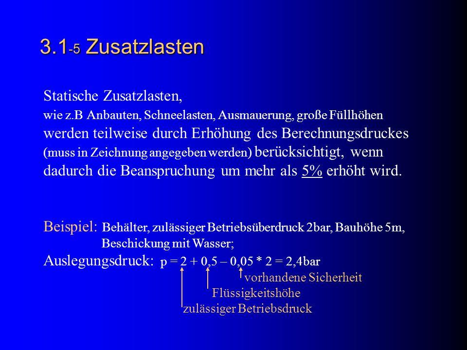 3.1-5 Zusatzlasten Statische Zusatzlasten,