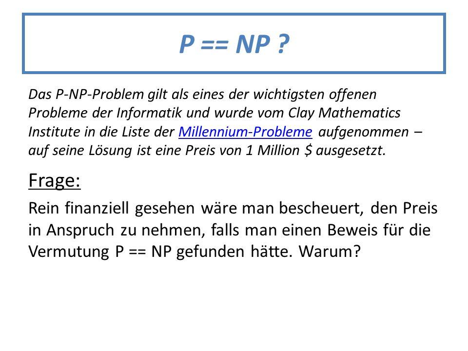P == NP